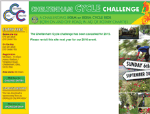 Tablet Preview of cheltenhamcyclechallenge.co.uk